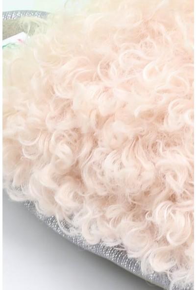 Twigy TT0237 Curl Pembe Kadın Kışlık Terlik