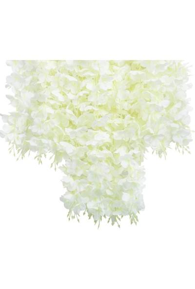 Nettenevime Sarkan Yapay Çiçek Akasya Beyaz 80 cm 3 Sarkan Dallı 12 Adet Bağ