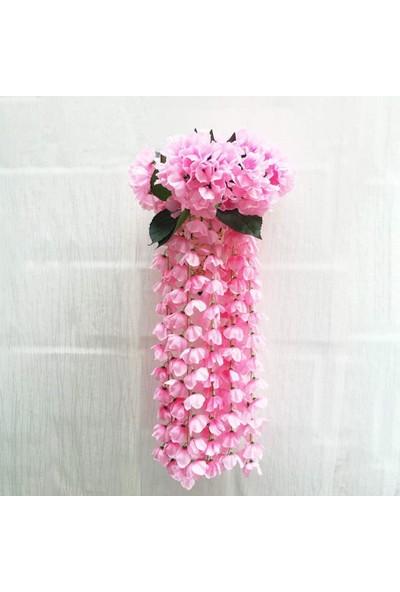 Nettenevime Yapay Çiçek Sarkan Ortanca Çiçeği 60 cm Pembe