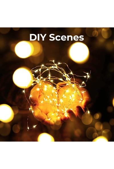 Nettenevime Peri LED Işık Ip Tipi 5 Metre Pilli Dolanabilen Suya Dayanıklı
