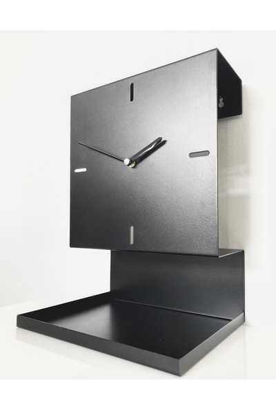 Kronos Raflı Masa ve Duvar Saati