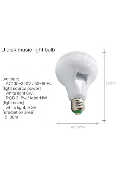 Kingboss Bluetooth Hoparlörlü Uzaktan Kumandalı Speaker USB LED Lamba