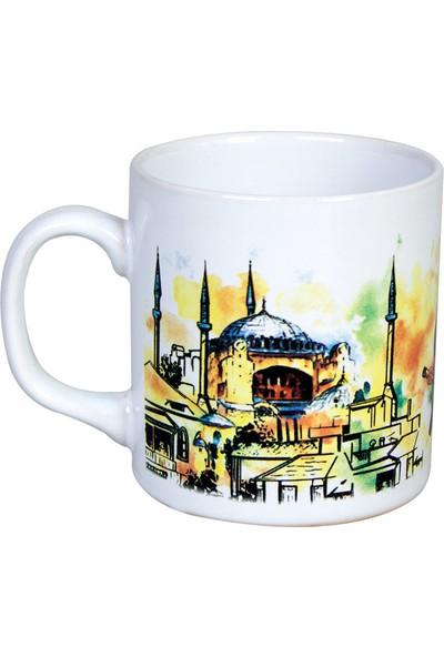 Mgm Ayasofya 1453 Desenli Saplı Kupa Bardak