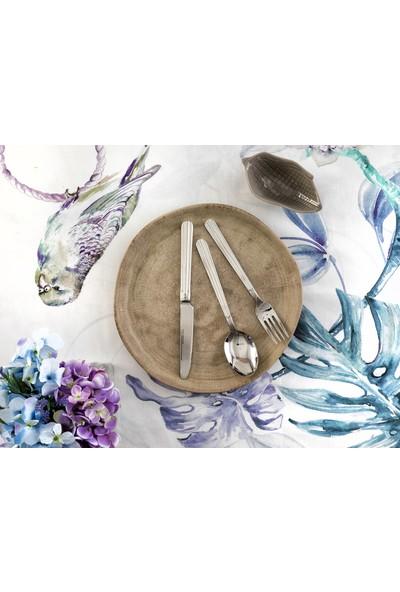 Madame Coco Persia 18 Parça Çatal Kaşık Bıçak Seti Gümüş