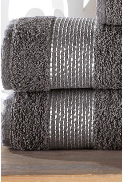 Zeynep Tekstil Stripe 4'lü Banyo Havlu Seti |