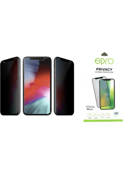 Epro Apple iPhone 11 Pro Tam Kaplayan 5D Hayalet Privacy Cam