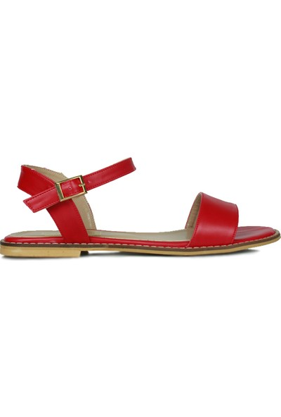 Loggalin 785206 524 Kadın Kırmızı Büyük & Küçük Numara Sandalet