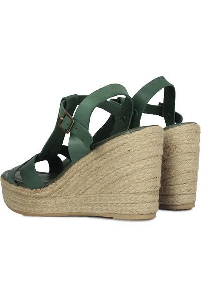 Erkan Kaban 5027 677 Kadın Yeşil Büyük & Küçük Numara Sandalet