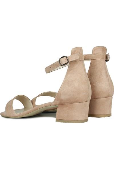 Loggalin 520033 727 Kadın Pudra Süet Topuklu Büyük & Küçük Numara Ayakkabı