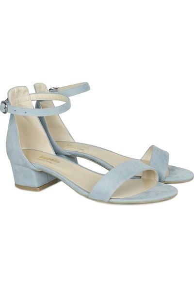 Loggalin 520033 423 Kadın Bebe Mavi Süet Topuklu Büyük & Küçük Numara Ayakkabı