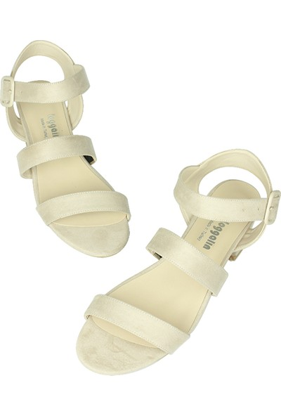 Loggalin 520036 327 Kadın Ten Süet Topuklu Büyük & Küçük Numara Ayakkabı