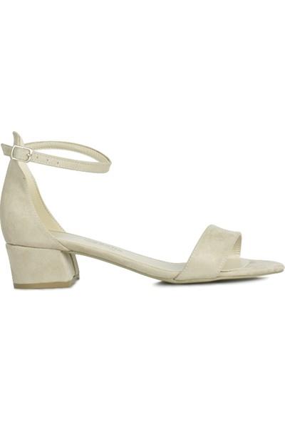Loggalin 520033 327 Kadın Ten Süet Topuklu Büyük & Küçük Numara Ayakkabı