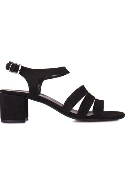 Loggalin 111141 008 Kadın Siyah Topuklu Sandalet