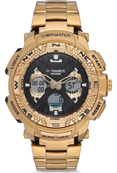 Comwatch Erkek Kol Saati Dijital Analog Çelik Kordon 862