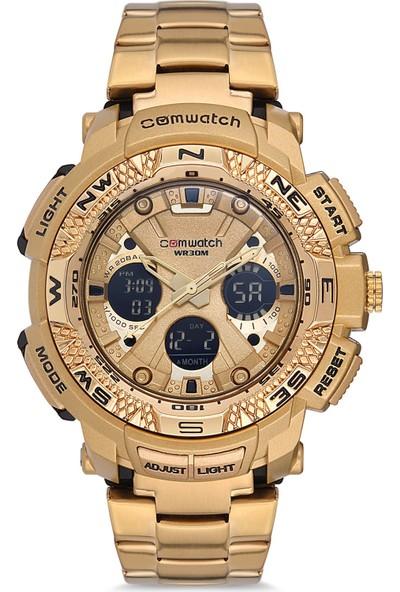 Comwatch Erkek Kol Saati Dijital Analog Çelik Kordon 861