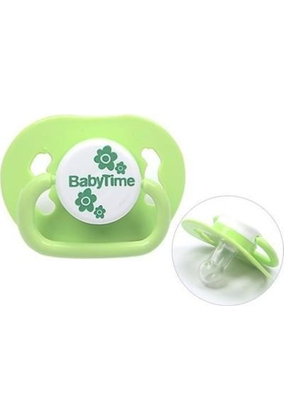 Baby Time BT139 Silikon Damaklı Emzik No 3 - Yeşil