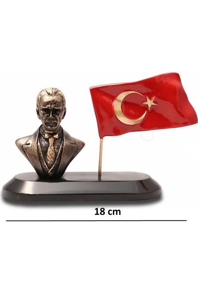 Gift Garden Atatürk Büst Temalı Masa Üstü Bayraklı Biblo