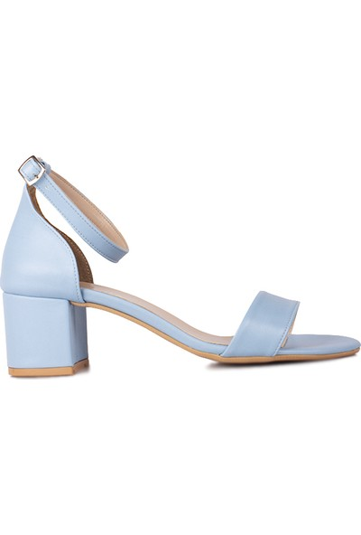 Loggalin 111272 424 Kadın Bebe Mavi Cilt Topuklu Büyük & Küçük Numara Sandalet