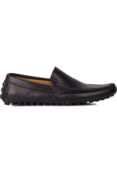 Kalahari 852220 014 Erkek Siyah Deri Büyük Numara Loafer