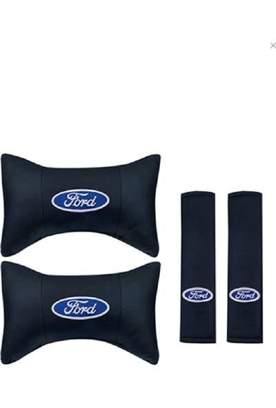 S&S Ford Seyahat Boyun Yastığı ve Kemer Pedi Takımı Nakışlı