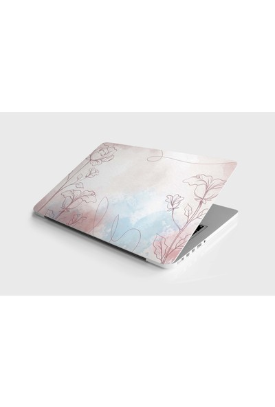 Jasmin Laptop Sticker Kaplama Etiketi Watercolor Flowers