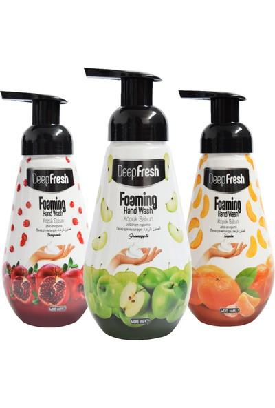 Deep Fresh Meyve Köpük Sabun Karma Paket 3 x 400 ml