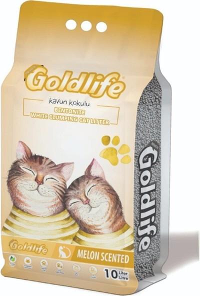 Gold Life 10 lt Premium Kavun Kokulu Bentonit Kedi Kumu