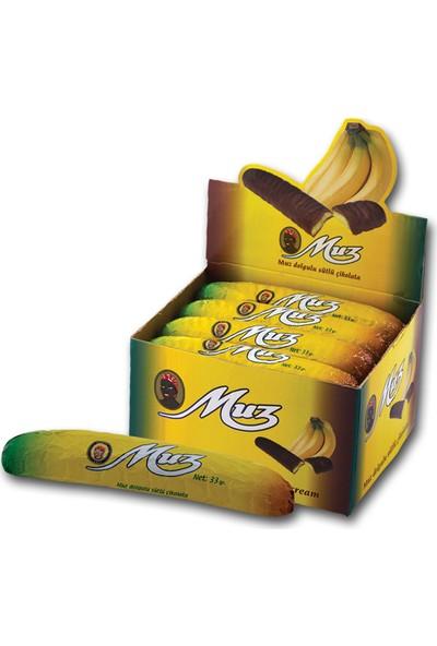 Mabel Muz Çikolata 33 gr - 24 Adet