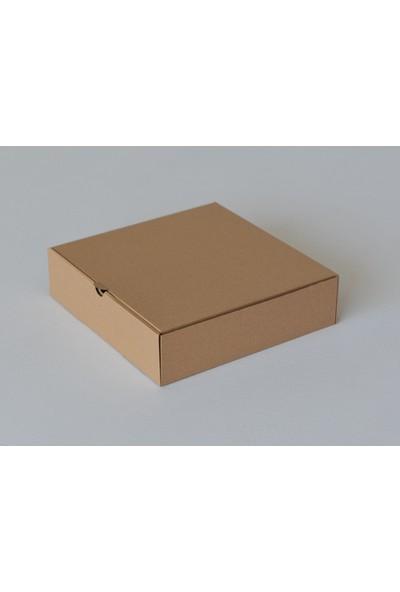 Kutuavm Pizza Kutusu 25x25x4 cm Kraft 100 Adet