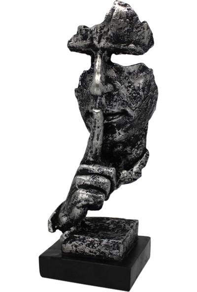Hunga Sus Figürlü Mask Biblo Gümüş Renk