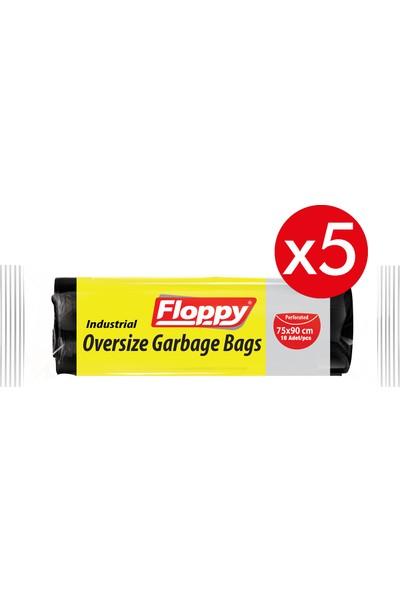 floppy Endüstriyel Battal Boy Çöp Torbası 75X90 cm 300 gr 5 Adet