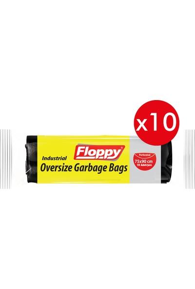 floppy Endüstriyel Battal Boy Çöp Torbası 75X90 cm 300 gr 10 Adet