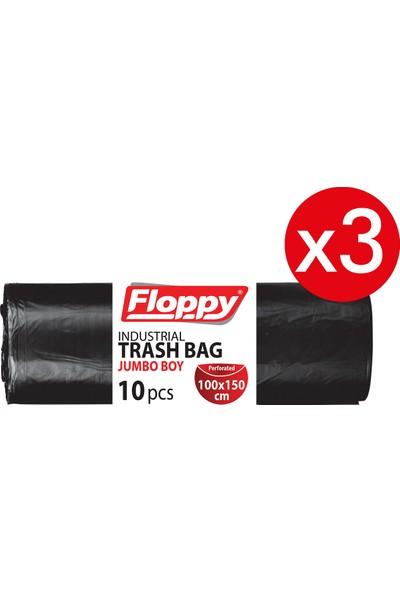 Floppy Ağır Sanayi Endüstriyel Çöp Torbası 100X150 cm 10'lu 700 gr 3ADET
