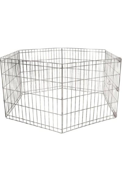 Gnd Metal Köpek Oyun Alanı Çit 6 Parça 63 x 63 cm