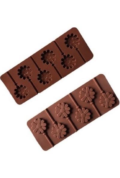 Cakes Party Çubuklu Papatya Silikon Çikolata Kalıbı