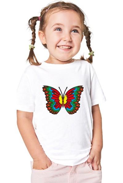 Paint&Wear Kelebek Boyama T-Shirt 4-6