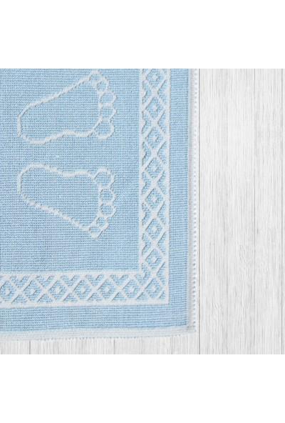 Noble Trade Boncuk Mavi Pamuk Ayak Paspası 50 X 70 cm
