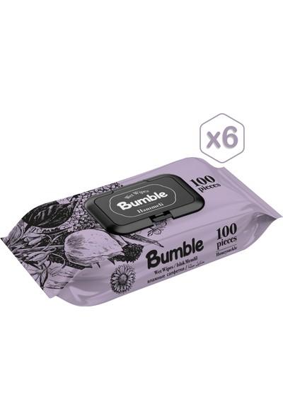 Bumble Hanımeli Islak Mendil 100 Yaprak*6'lı Paket