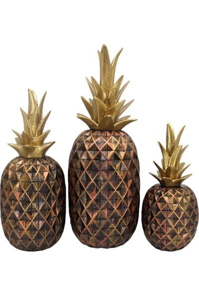 Hunga Üçlü Ananas Biblo Set