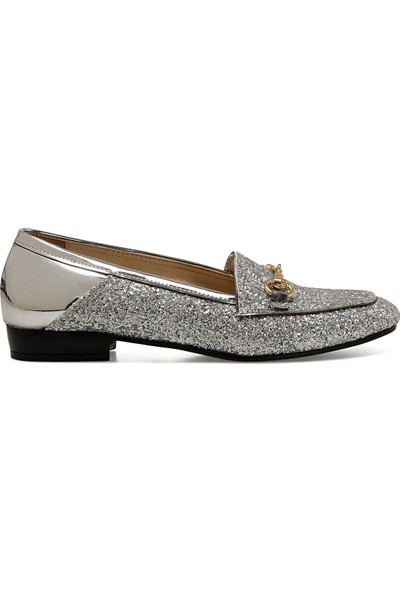 Nine West Fury Gümüş Kadın Loafer Ayakkabı