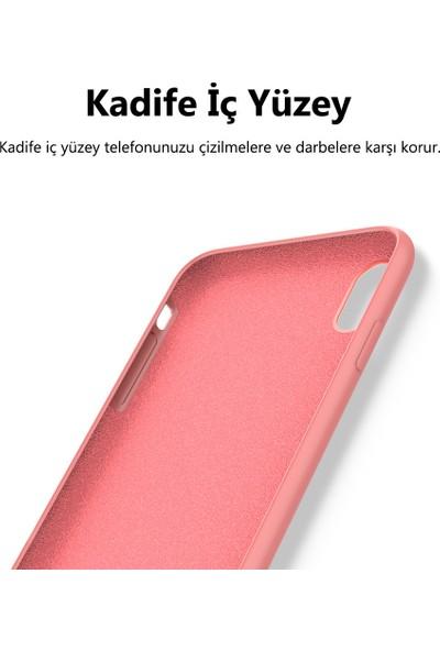 KZY Oppo A72 Kapak İçi Kadife Soft Logosuz Lansman Silikon Kılıf - Kırmızı
