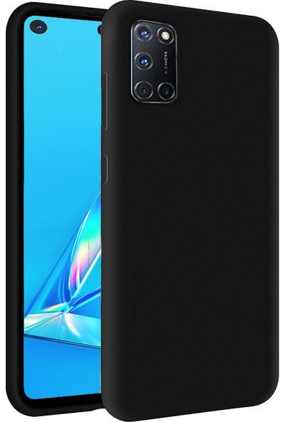 KZY Oppo A72 Kapak İçi Kadife Soft Logosuz Lansman Silikon Kılıf - Siyah