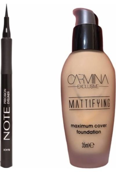 Note Siyah Precision Eyeliner + Carmina Mat Fondöten