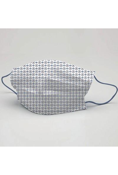 3nnn Geometrik Desen Yıkanabilir Maske 5 Adet