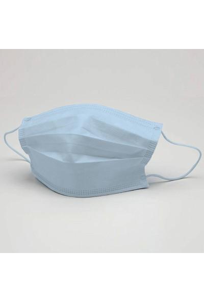 3nnn Buz Mavi Renk Yıkanabilir Maske 5 Adet