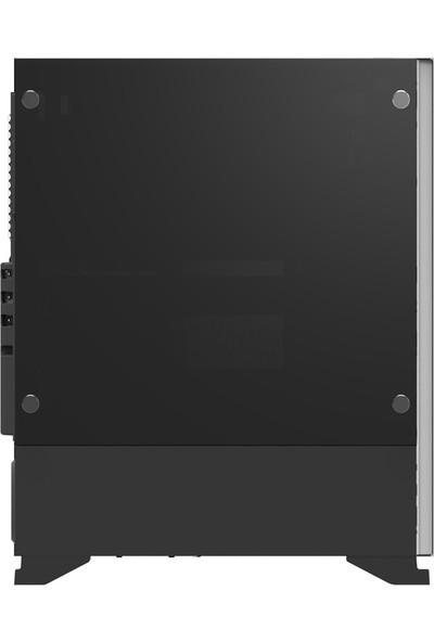 Zalman S5 Black ATX Mid Tower 1 x Mik., 1 x Kul., 1 x USB 3.0, 2 x USB 2.0, Fan Kontrol, 1 x 120 mm RGB Fan, 1 x 120 mm Fan, Cam Yan Kapak, PCI/AGP 340 mm Bilgisayar Kasa