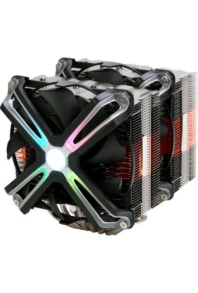 Zalman CNPS20X Tuning Efektli 140 mm LED Fanl'lı Cpu Soğt. LGA2066/2011-V3/2011/115X/AM4/AM3+/AM3 Cpu Cooler, 6 Heatpipes, Pwm Fan, TDP 300W