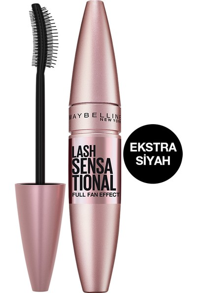 Maybelline New York Lash Sensational Yelpaze Etkili Intense Black Maskara - Ekstra Siyah