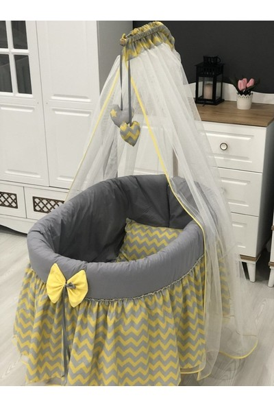 Mini Baby Figürlü Sepet Beşik