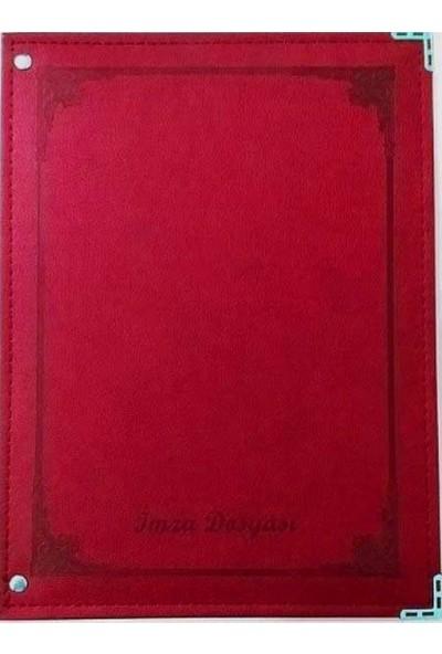 Önder 7101-2 16LI Termo Deri Kırmızı Imza Dosyası
